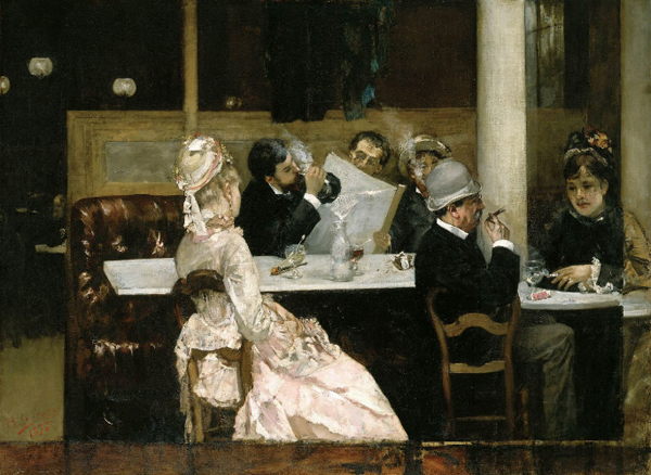 Henri Gervex – Cafe Scene in Paris in 1877